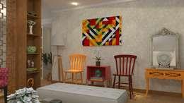 Decoração de Apartamento em Salvador-Ba: Salas de estar modernas por Maria Julia Faria Arquitetura e Interior Design