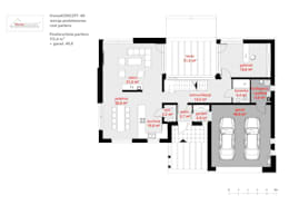 Projekt domu HomeKONCEPT-40: styl nowoczesne, w kategorii Domy zaprojektowany przez HomeKONCEPT | Projekty Domów Nowoczesnych