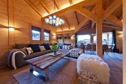 modern Living room تنفيذ David Village Lighting