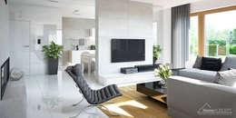 HomeKONCEPT   Projekty Domów Nowoczesnych: modern tarz Oturma Odası