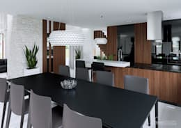 Projekt domu HomeKONCEPT-13- wnętrze: styl , w kategorii Jadalnia zaprojektowany przez HomeKONCEPT | Projekty Domów Nowoczesnych