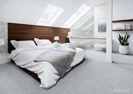 臥室 by HomeKONCEPT | Projekty Domów Nowoczesnych