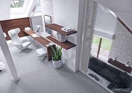 Projekt domu HomeKONCEPT-13- wnętrze: styl , w kategorii Sypialnia zaprojektowany przez HomeKONCEPT | Projekty Domów Nowoczesnych