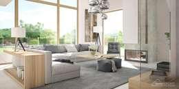 Livings de estilo moderno por HomeKONCEPT | Projekty Domów Nowoczesnych