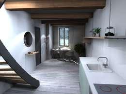 Projekty,  Korytarz, przedpokój zaprojektowane przez Claire de Bodinat / Archidesign