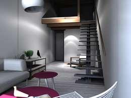 Projekty,  Salon zaprojektowane przez Claire de Bodinat / Archidesign