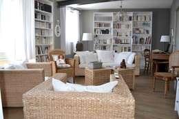 Projekty,  Salon zaprojektowane przez Courants Libres