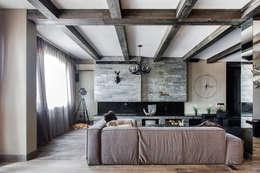 Квартира в стиле Современное шале: Гостиная в . Автор – Дизайн Мира