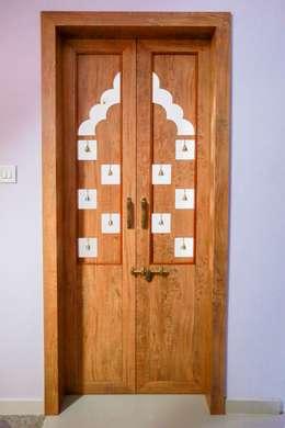 Pooja Door:  Windows by ZEAL Arch Designs