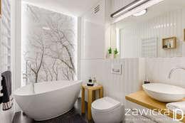 Ванные комнаты в . Автор – ZAWICKA-ID Projektowanie wnętrz