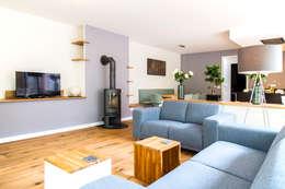 moderne Wohnzimmer von Woon Architecten