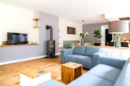 Woon Architecten: modern tarz Oturma Odası