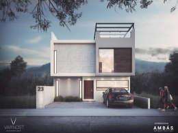Garajes de estilo moderno por Ambás Arquitectos
