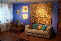 غرفة المعيشة تنفيذ Bojorquez Arquitectos SA de CV