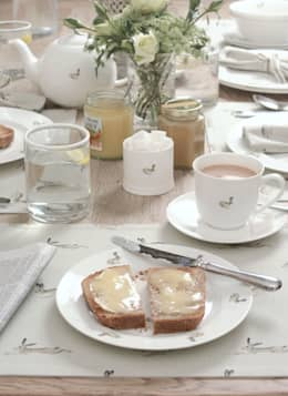 Sophie Allport Hare Tableware: country Dining room by Sophie Allport