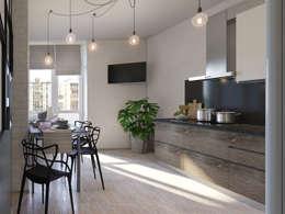 Cucina in stile in stile Industriale di Bovkun design