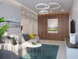 minimalistische Wohnzimmer von Bovkun design