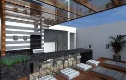Projekty,  Taras zaprojektowane przez Adriana Beluomini