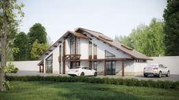 Коттеджные дома: Дома в . Автор – ARCHLINE  ARCHITECTURE & DESIGN