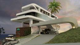 Casas de estilo moderno por NOGARQ C.A.