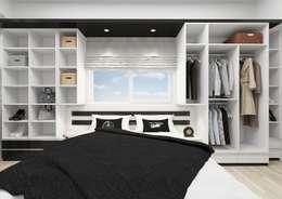 minimalistische Schlafzimmer von PRATIKIZ Mimarlık/ Architecture