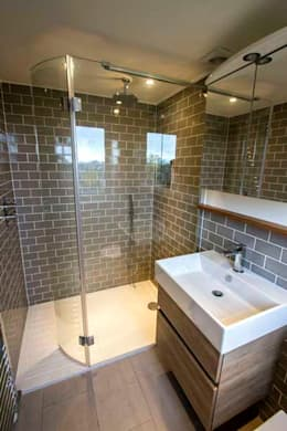 Loft & Extension, Raynes Park: modern Bathroom by Cube Lofts
