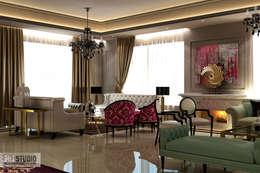 Salon de style de style Moderne par THE Studio