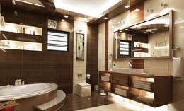 تصاميم داخلية فيلا سكنية (1):  حمام تنفيذ rashaatalla