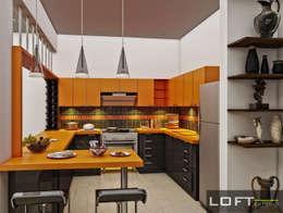 Cocina: Cocinas de estilo moderno por LOFT ESTUDIO arquitectura y diseño