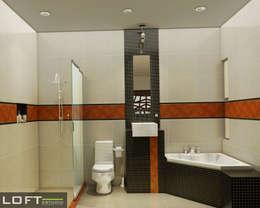 حمام تنفيذ LOFT ESTUDIO arquitectura y diseño