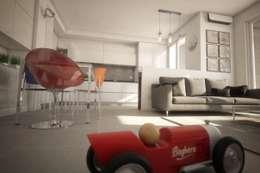 modern Living room by Ivan Rivoltella