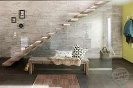 Pasillos, vestíbulos y escaleras de estilo  por Passion Bois