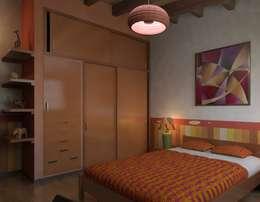 غرفة نوم تنفيذ Arq. Rodrigo Culebro Sánchez