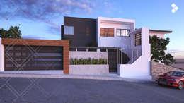 Fachada: Casas de estilo moderno por CDR CONSTRUCTORA