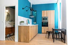 Blue Velvet: Cuisine de style de style Industriel par Insides