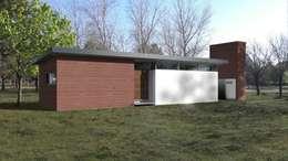 FACHADA / VIVIENDA R / EDICION CAPSULA / TU CASA: Casas de estilo moderno por VHA Arquitectura