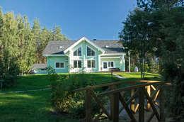 Загородный дом из клееного бруса: Дома в . Автор – Дмитрий Кругляк