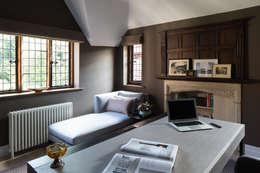 Projekty,  Domowe biuro i gabinet zaprojektowane przez Roselind Wilson Design