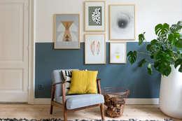 Studio Binnen: iskandinav tarz tarz Oturma Odası