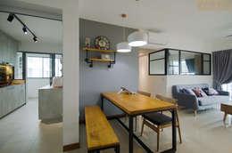 Punggol Waterway Brooks BTO: minimalistic Dining room by Designer House