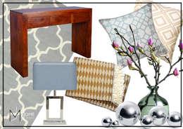Moodboard: styl , w kategorii Salon zaprojektowany przez Mhomestudio