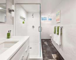 Basement Bath: modern Bathroom by Clean Design