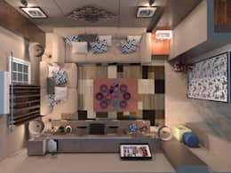 Apartment :  غرفة المعيشة تنفيذ Taghred elmasry