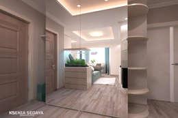 Дизайн морского интерьера трехкомнатной квартиры: Коридор и прихожая в . Автор – Студия Ксении Седой