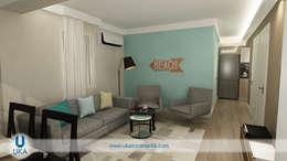 Uka İçmimarlık – : minimal tarz tarz Oturma Odası