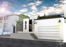 Acceso Peatonal: Casas de estilo minimalista por SANT1AGO arquitectura y diseño