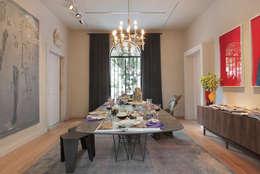 Sala de Jantar Ovoo: Salas de jantar modernas por Gisele Taranto Arquitetura