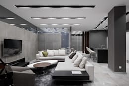 modern Living room by Archiprofi