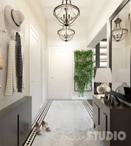 Stylowy korytarz: styl , w kategorii Korytarz, przedpokój zaprojektowany przez MIKOŁAJSKAstudio