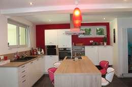 ilot cuisine: Cuisine de style de style Moderne par Agence ADI-HOME